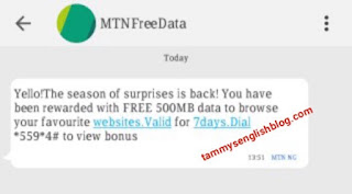MTN Season of Surprises: Get at least 500MB as a Christmas Gift from MTN
