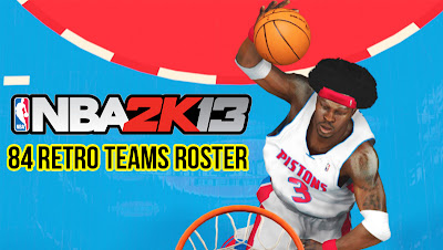 NBA 2K13 Roster with 84 Retro Classic Teams