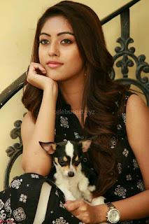 Anu Emmanuel with her pet dog cute pics 2