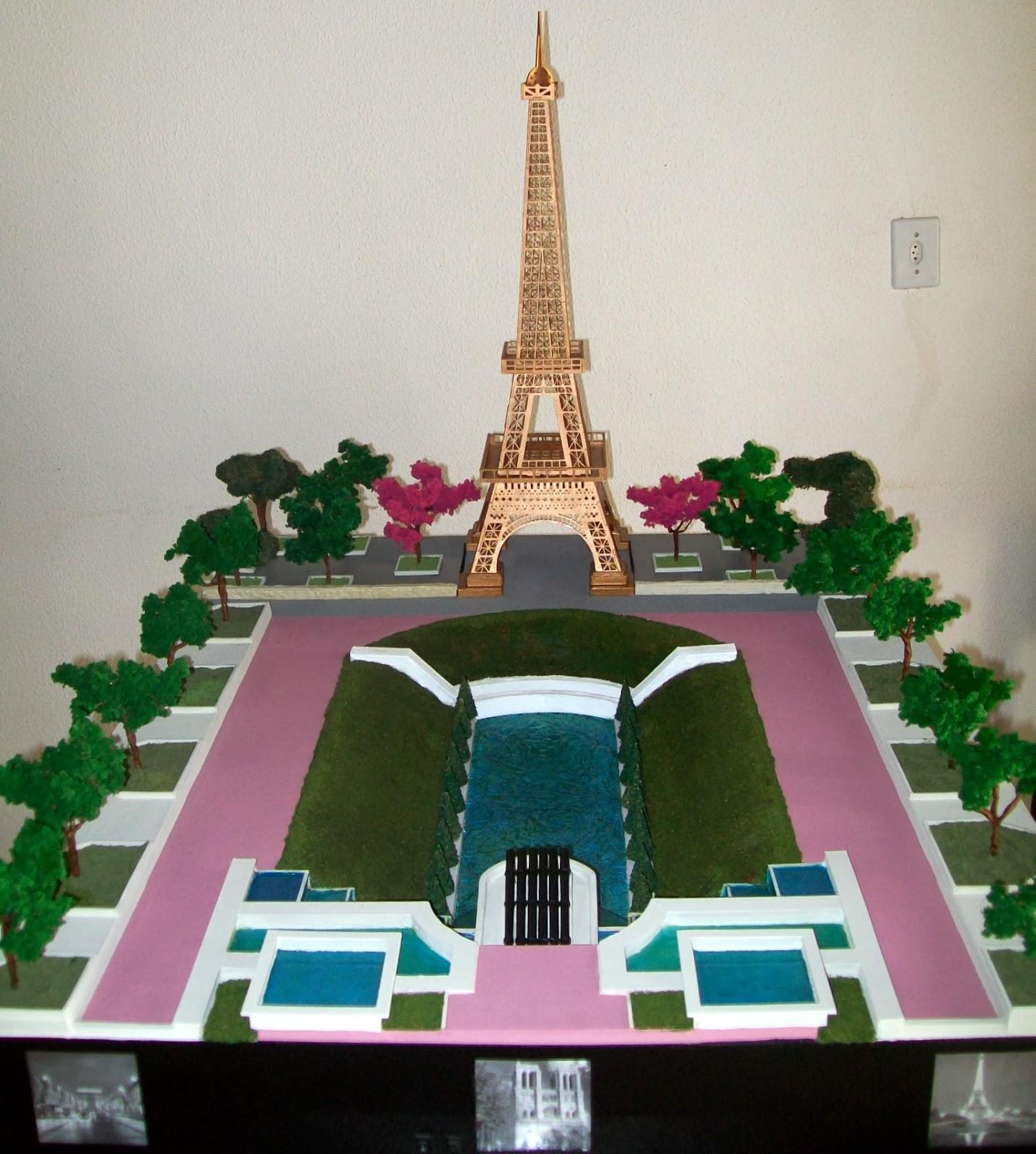 Casa do Imaginrio  Maquete sobre Paris  Passo a passo