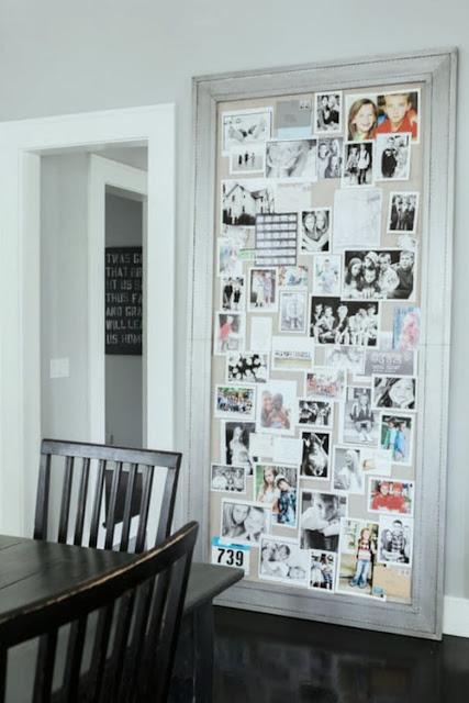 Giant linen mood board in a modern farmhouse kitchen - Hello Lovely Studio
