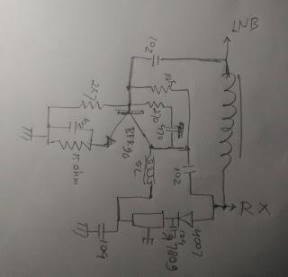 Rangkaian sederhana penguat sinyal LNB