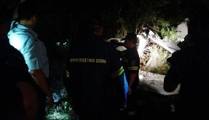 Πτώση αεροσκάφους στη Λάρισα: Σοκαριστικές εικόνες από τον τόπο του δυστυχήματος