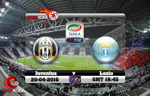 مشاهدة مباراة يوفنتوس ولاتسيو اليوم 20-4-2016 في الدوري الإيطالي