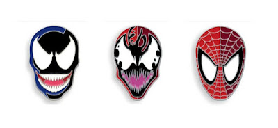 Venom Portrait Enamel Pins by Tom Whalen x Mondo x Marvel