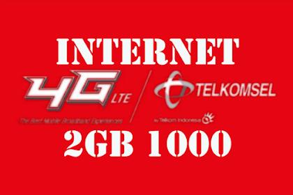 Cara Daftar Paket Internet Murah Simpati Telkomsel 2GB 1000 Rupiah