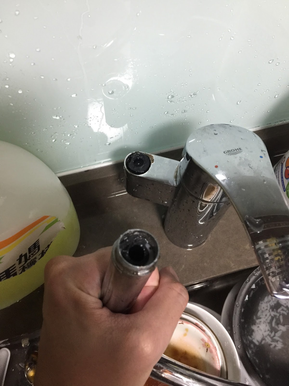 I am your Little Rascal: Breaking A Grohe Kitchen Sink Faucet