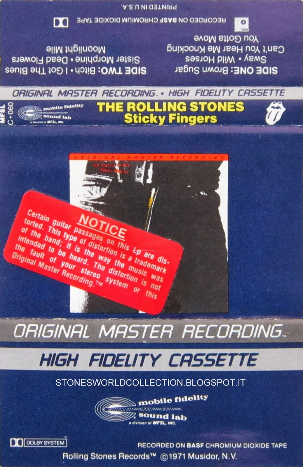 Stonesworldcollection Cassette Rare