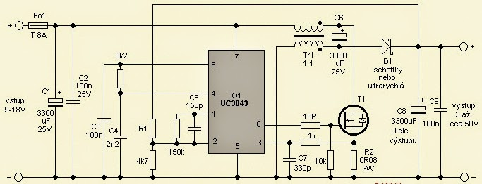 Feed Pictures Laptop Power Supply Car Adapter Circuit Using Uc3843