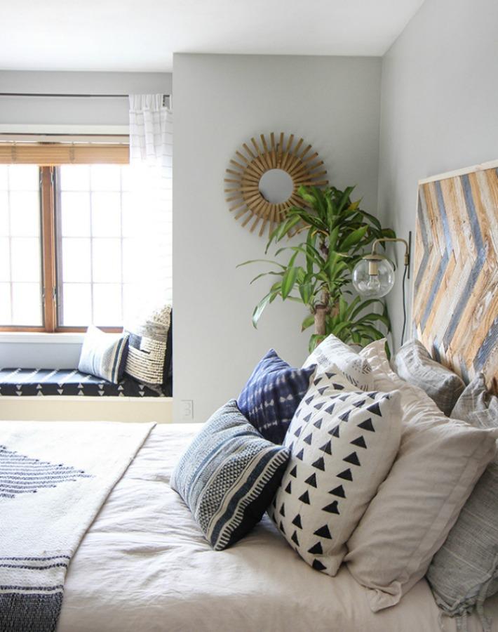 Antes  y después de un dormitorio con aire colonial