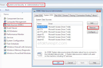 tidak bisa menghapus file system DSN eSPT