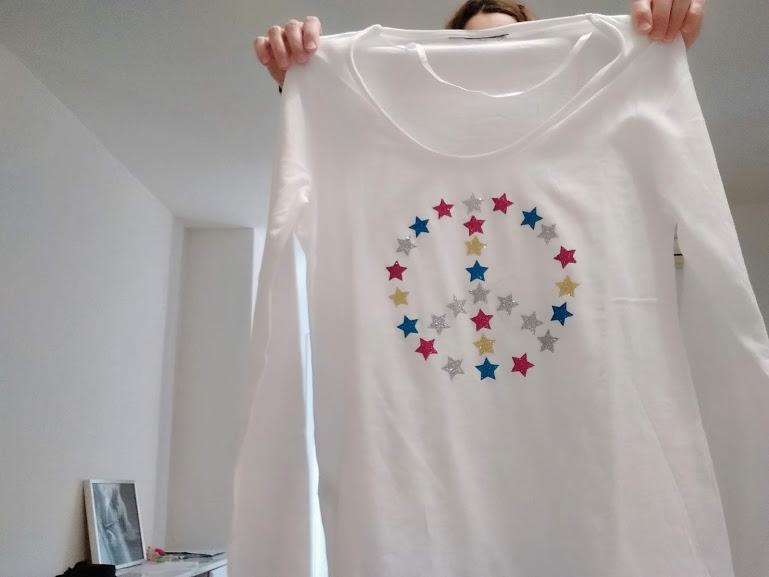 tutorial sencillo camiseta simbolo de la paz