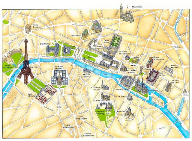 Париж. Карта