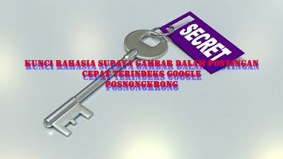 Kunci Rahasia Supaya Gambar dalam Postingan Cepat Terindeks Google