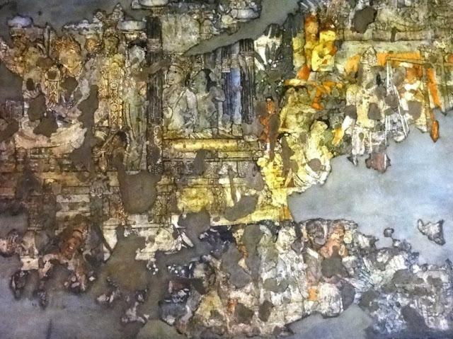 Ajanta cave painting 3-  Shibi Kapota Jataka