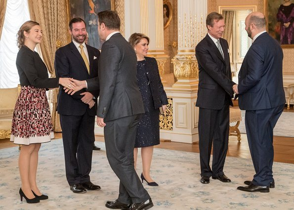 Grand Duke Henri, Maria Teresa, Prince Guillaume and Princess Stéphanie