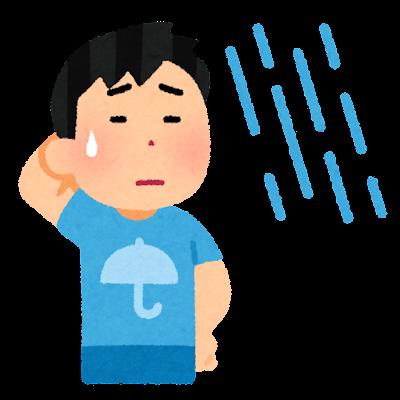 雨男のイラスト