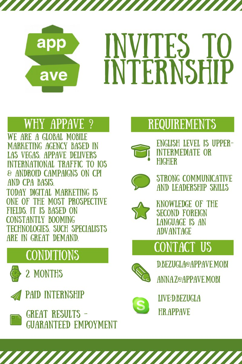 AppAve invites to internship