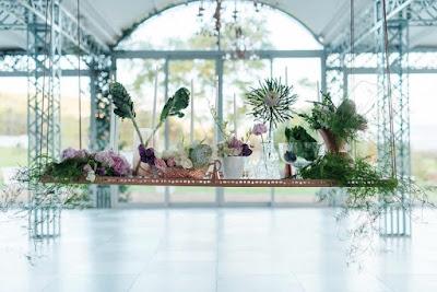 decoration table mariage boheme vert et cuivre