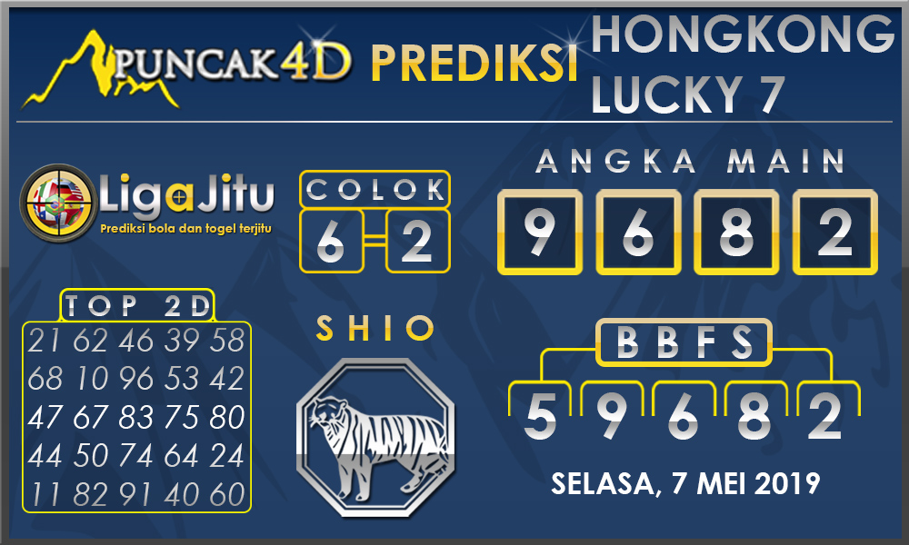 PREDIKSI TOGEL HONGKONG LUCKY7 PUNCAK4D 07 MEI 2019