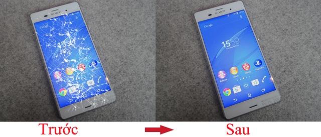 Mặt kính Z3+ bị rơi vỡ, cảm ứng và màn hình vẫn hoạt động bình thường thì cần thay mặt kính mới
