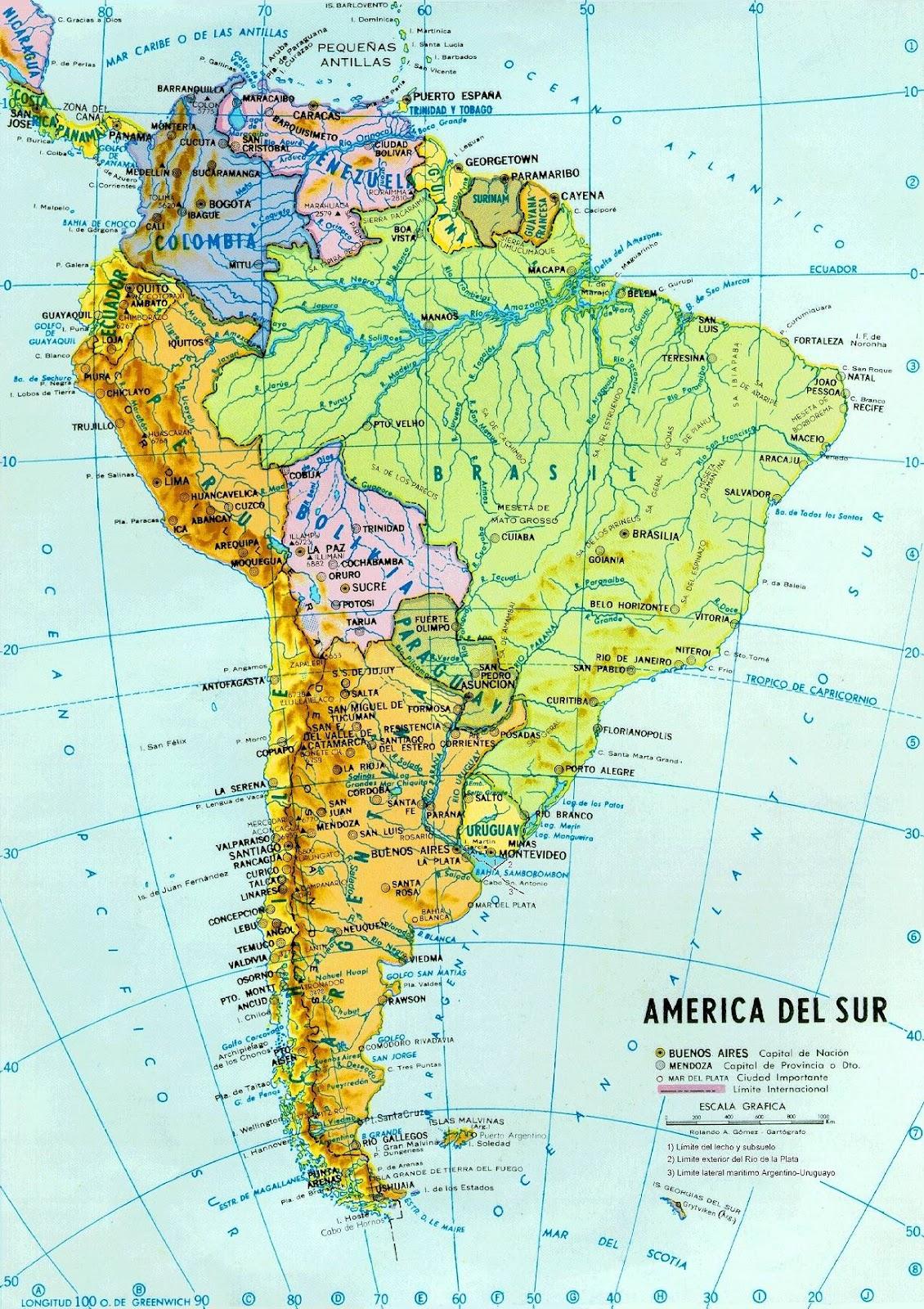 América do Sul, Aspectos Geográficos da América do Sul