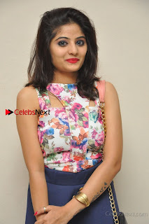 Kannada Actress Mahi Rajput Pos in Floral Printed Blouse at Premam Short Film Preview Press Meet  0003.jpg