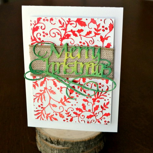 Embossed and Foiled Christmas Card  Front by Dana Tatar for Scrapbook Adhesives by 3L