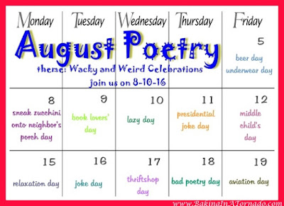 August Poetry. Theme: Wacky and Weird Celebrations | www.BakingInATornado.com | #poetry #poems