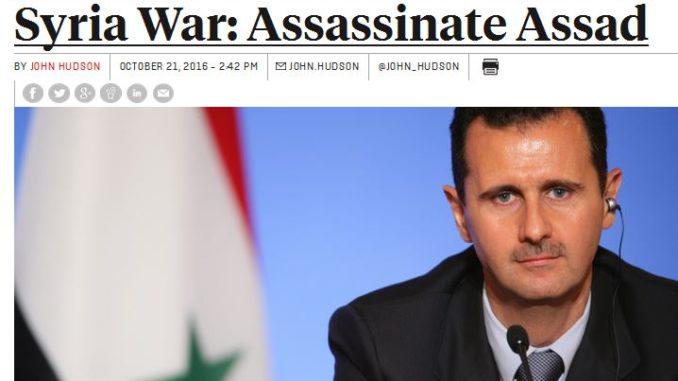 Στο Κογκρέσο των ΗΠΑ τέθηκε ζήτημα της δολοφονίας του Μπασάρ αλ Άσαντ!