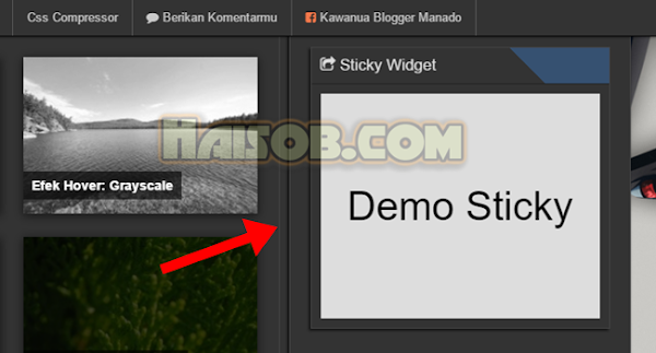 Cara Membuat Sticky Widget Di Blogspot