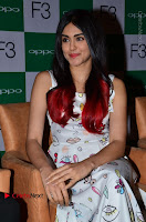 Bollywood Actress Adah Sharma Pos in White Printed Short Dress at OPPO F3 Plus Selfie Expert Mobile Launch .COM 0046.jpg