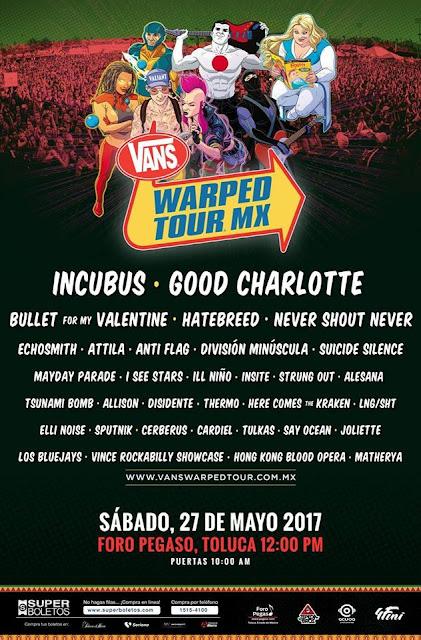 De estreno en México, Vans Warped Tour