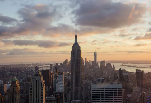 Sunset à New York en haut du top of the rock