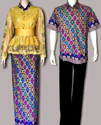 Model Kebaya Batik Couple Modern