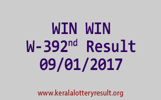 WIN WIN W 392 Lottery Results 9-1-2017