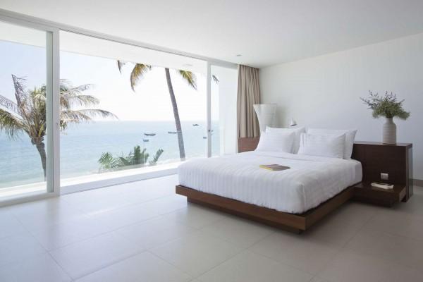 kamar tidur pantai desain villa mewah