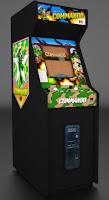 Fotografía con la máquina recreativa Arcade de Capcom: Commando (1985)
