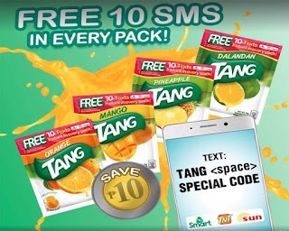 Tang Free Text Promo to Smart, Sun Cellular and TNT Subscribers