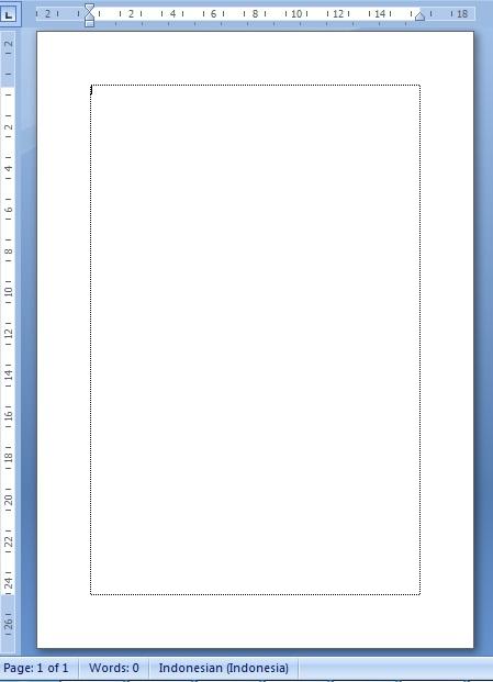tampilan lembar kerja microsoft word 2010