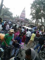 road-block-andhrathadi-madhubani