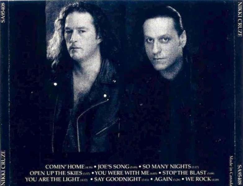 NIKKI CRUZE - Nikki Cruze (1995) back