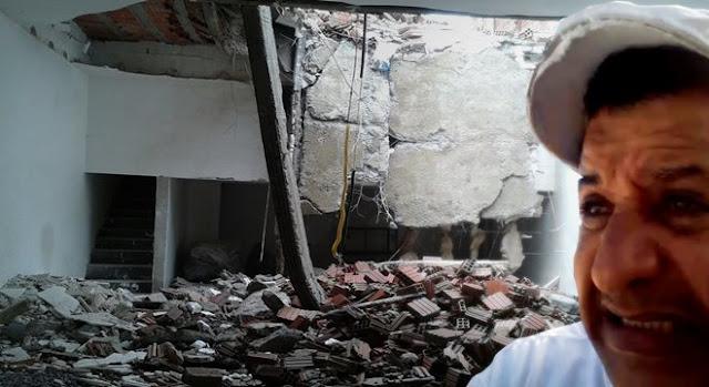 Abílio Santana após a queda do teto