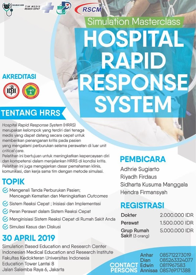 Workshop HRRS (Hospital Rapid Response System) 30 April 2019 (SKP IDI)