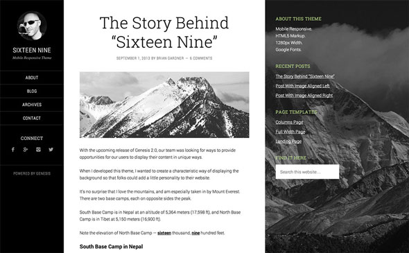Free Download Sixteen Nine Pro - Genesis Child Theme For Wordpress