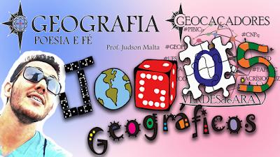 capa do vídeo blog Geografia Poesia Fé - Jogos Geografia Geocaçadores