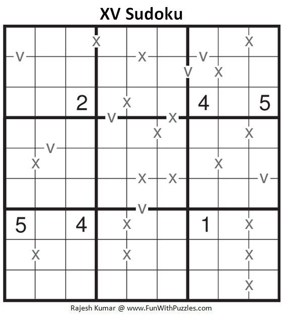 XV Sudoku (Fun With Sudoku #181)