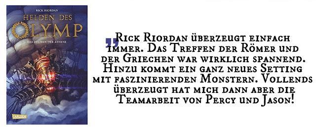 Highlight Mai 2018: Helden des Olymp, Das Zeichen der Athene von Rick Riordan