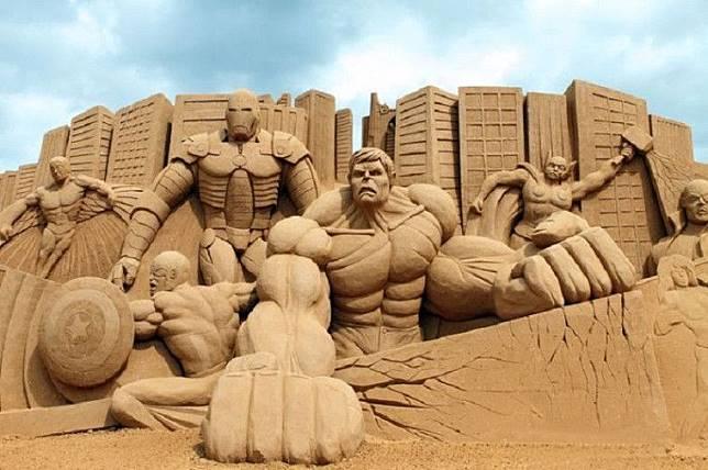 Potret Karya Seni yang Terbuat dari Pasir Ini Menakjubkan