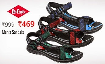 (Updated) Special Offer: Lee Cooper Men's Casual Sandals worth Rs.999 for Rs.281 Only with Free Shipping @ HomeShop18 (For Today Only)